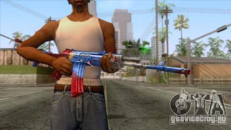 CrossFire AK-12 Assault Rifle v2 для GTA San Andreas третий скриншот