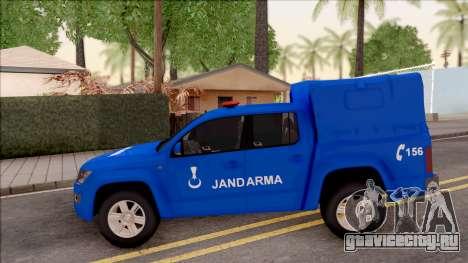 Volkswagen Amarok Turkish Gendarmerie Vehicle для GTA San Andreas вид слева