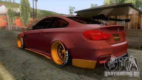 BMW M4 F82 GTS LB Performance 2015 для GTA San Andreas вид слева