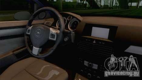 Opel Astra H для GTA San Andreas вид изнутри
