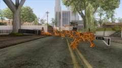 CoD: Black Ops II - AK-47 Lava Skin v2 для GTA San Andreas