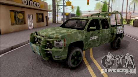 Chevrolet Silverado Auto Militar De Guatemala для GTA San Andreas