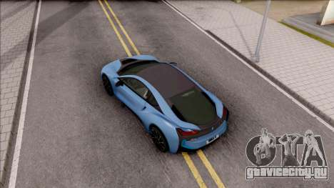 BMW i8 2017 для GTA San Andreas вид сзади