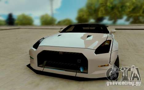 Nissan GTR R35 для GTA San Andreas вид сзади