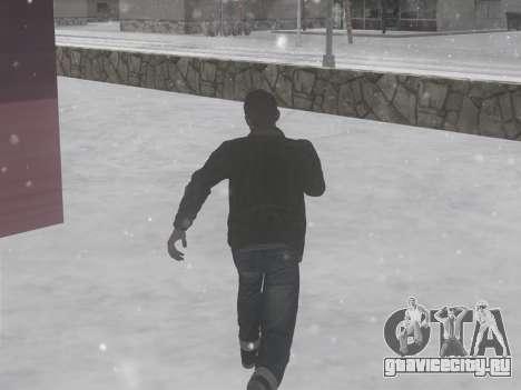 Зимние звуки шагов для GTA San Andreas