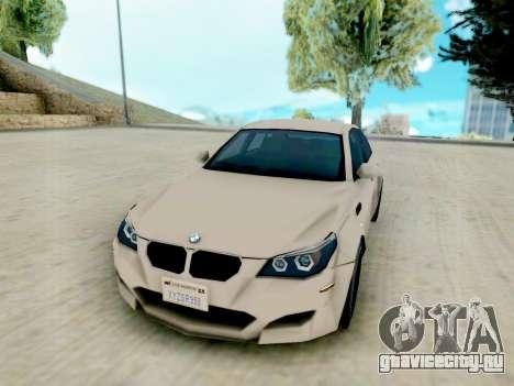 BMW M5 E60 Lumma Edition для GTA San Andreas вид сзади