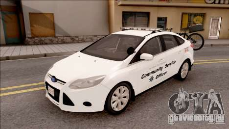 Ford Focus 2013 Community Service Officer для GTA San Andreas