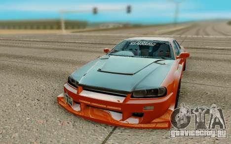 Nissan Skyline R34 Ura для GTA San Andreas вид сзади