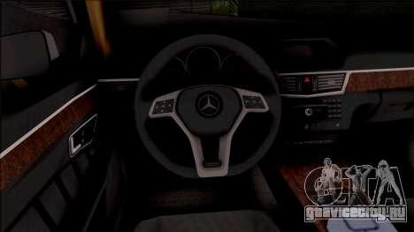 Mercedes-Benz E250 для GTA San Andreas вид изнутри