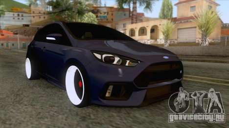 Ford Focus RS Hatchback 2017 для GTA San Andreas