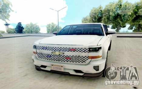 Chevrolet SIlverado 2017 Undercover Police для GTA San Andreas вид сзади