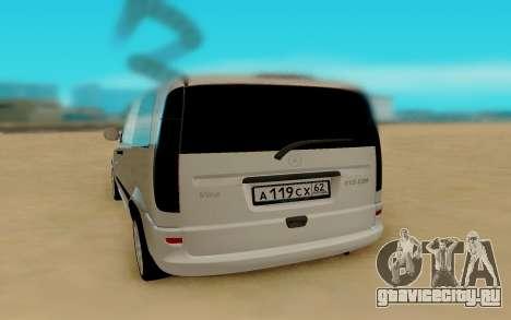 Mercedes-Benz Vito для GTA San Andreas вид справа