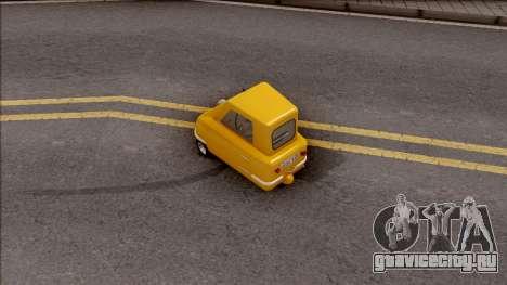 Peel P50 2011  v1.1 для GTA San Andreas вид сзади