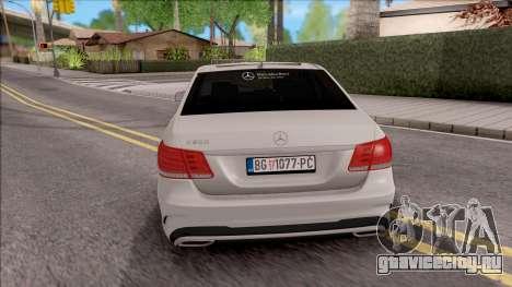 Mercedes-Benz E250 для GTA San Andreas вид сзади слева