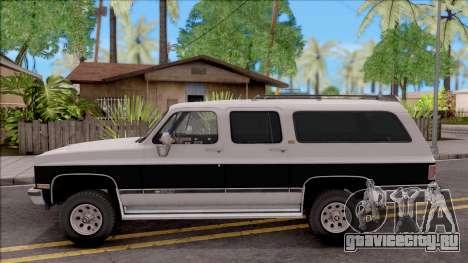 Chevrolet Suburban 1989 IVF для GTA San Andreas вид слева