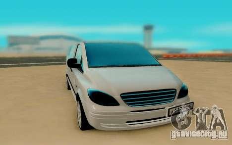 Mercedes-Benz Vito для GTA San Andreas вид сзади слева
