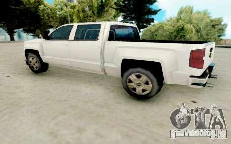 Chevrolet SIlverado 2017 Undercover Police для GTA San Andreas вид сзади слева