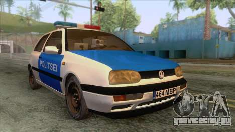 Volkswagen Golf Mk3 Estonian Police для GTA San Andreas