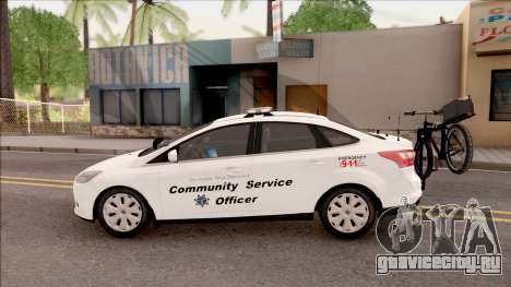 Ford Focus 2013 Community Service Officer для GTA San Andreas вид слева