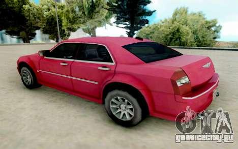 Chrysler 300C 2008 для GTA San Andreas вид сзади слева