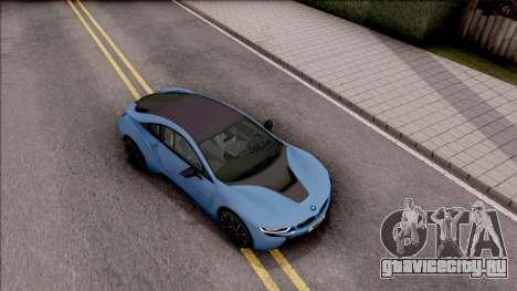 BMW i8 2017 для GTA San Andreas вид справа