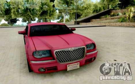 Chrysler 300C 2008 для GTA San Andreas вид сзади