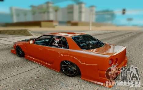 Nissan Skyline R34 Ura для GTA San Andreas вид справа