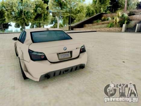 BMW M5 E60 Lumma Edition для GTA San Andreas вид справа