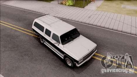 Chevrolet Suburban 1989 IVF для GTA San Andreas вид справа