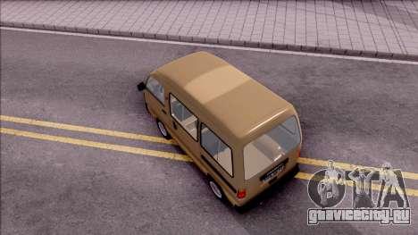 Daewoo Damas для GTA San Andreas вид сзади