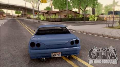 New Elegy Tunable для GTA San Andreas вид сзади слева