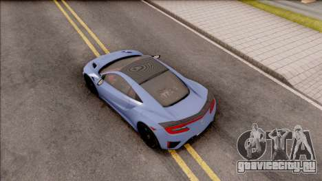 Acura NSX 2016 для GTA San Andreas вид сзади