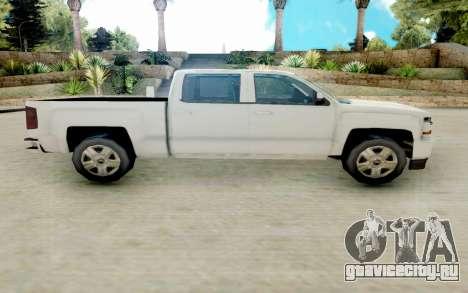 Chevrolet SIlverado 2017 Undercover Police для GTA San Andreas вид слева