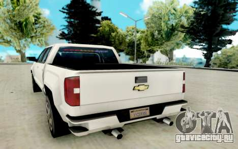 Chevrolet SIlverado 2017 Undercover Police для GTA San Andreas вид справа