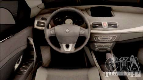 Renault Fluence Turkish Military Vehicle для GTA San Andreas вид изнутри