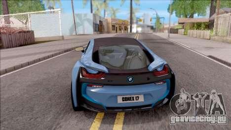 BMW i8 2017 для GTA San Andreas вид сзади слева