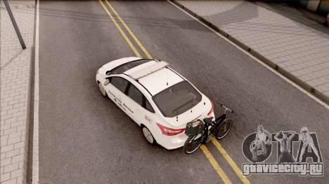 Ford Focus 2013 Community Service Officer для GTA San Andreas вид сзади