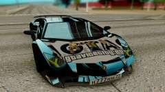 Lamborghini Aventador SV 2015 чёрный для GTA San Andreas