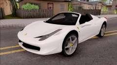 Ferrari 458 Italia Spider для GTA San Andreas