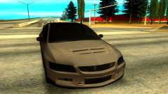 Mitsubishi Lancer Evolution 8 серебристый для GTA San Andreas