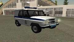 УАЗ Хантер ППСП (Рестайлинг II) V0.1 для GTA San Andreas