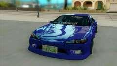 Nissan Silvia S15 бирюзовый для GTA San Andreas