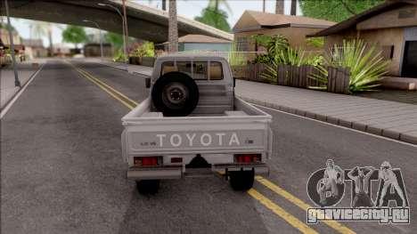 Toyota Land Cruiser J79 для GTA San Andreas вид сзади слева