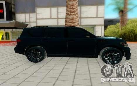 Infiniti QX56 для GTA San Andreas вид слева