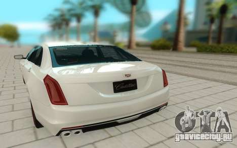 Cadillac CT6 для GTA San Andreas вид сзади
