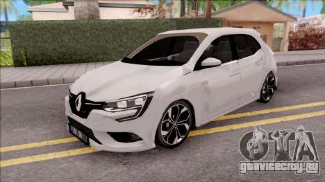 Renault Megane 4 Hatchback Low Poly для GTA San Andreas