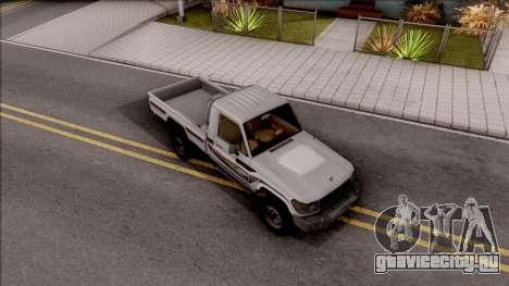Toyota Land Cruiser J79 для GTA San Andreas вид справа