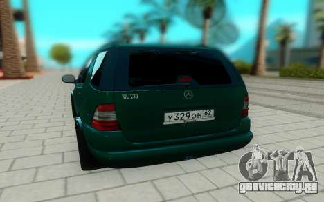 Mersedes-Benz ML 230 для GTA San Andreas вид сзади
