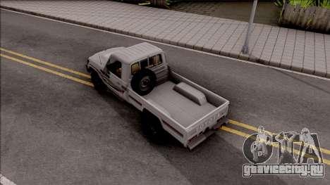 Toyota Land Cruiser J79 для GTA San Andreas вид сзади