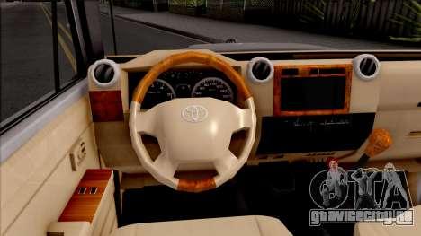 Toyota Land Cruiser J79 для GTA San Andreas вид изнутри